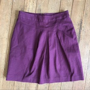 Anthropologie Tabitha Purple Structured Skirt